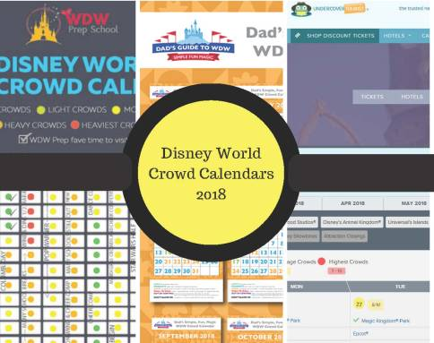 disney world crowd calendars 2018